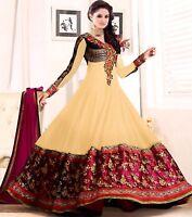 Stitched Light Skin Brown Anarkali Churidar Dress Dupatta 38bust M Us Seller
