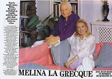 COUPURE DE PRESSE CLIPPING 1994 MELINA MERCOURI  JULES DASSIN 6 pages