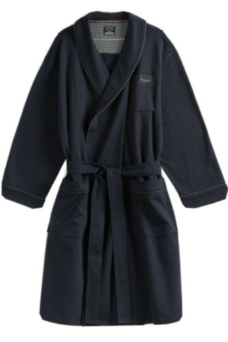Ted Baker New Mens Navy Blue Brushed Dressing Gown Bath Robe Large XLarge XL NWT