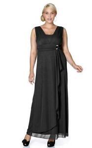 Abendkleid schwarz elegant figurschmeichelnd Kurz-Gr. 48 ...