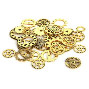 Jewelry & Watches Beads & Jewelry Making Analytical Zahnrad Mix Zahnräder Schmuck Anhänger Steampunk Gothic Basteln Kette Antik Gold