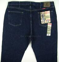 Wrangler Jeans Regular Fit Mens Size 42 X 30 Rinse (dark Blue) Straight Leg