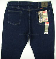 Wrangler Jeans Regular Fit Mens Size 42 X 30 Rinse (dark Blue) Straight Leg