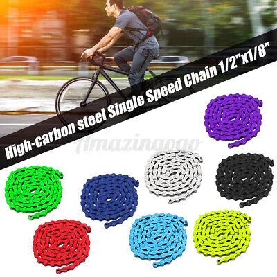 Bicycle Bike Chain Single Speed 96 Link 1//2/'/'x1//8/'/' Colours MTB BMX   **