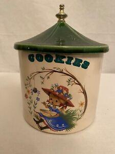 Vintage-Little-Miss-Muffet-Cookie-Jar-from-the-McCoy-Nursery-Rhyme-Series