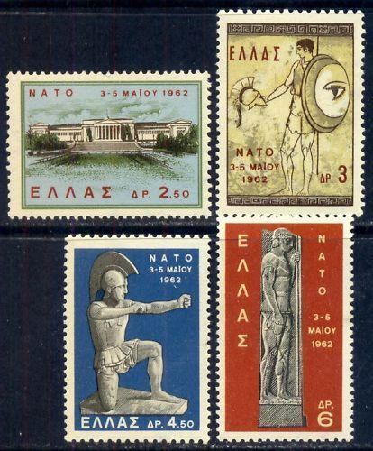 1962 Soldier,Warrior,Marathon,Sculptures,Archer,NATO,Building,Greece Mi.792-5 NH