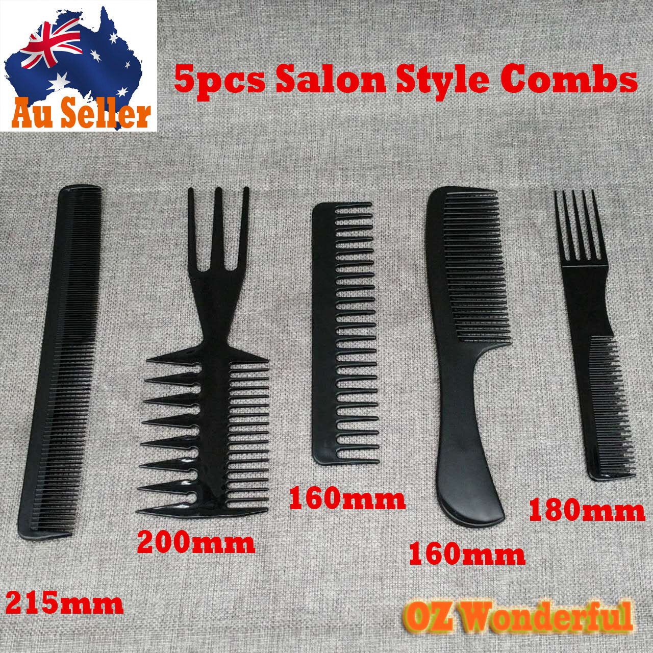 985169cfc Details about 5pcs Beauty Salon Hair Styling Hairdressing Plastic Barbers  Brush Combs Style