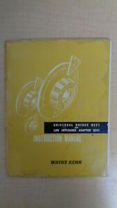 Details about Wayne Kerr Universal Bridge B221 Low Impedance Adapter Q221  Manual 6F B6