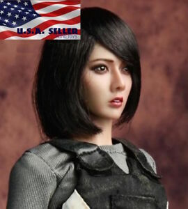 1//6 American European Female Head blonde cheveux court pour Phicen ❶ USA en stock ❶