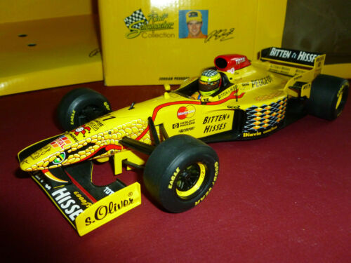 JORDAN PEUGEOT 11 SCHUMACHER 1997 F1 PAUL'S MODEL ART 118 DIE CAST OPEN BOX 97