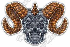 "Goat Demon Devil Eye Satan Ram Horn Hell Car Bumper Vinyl Sticker Decal 3.5/""X5/"""