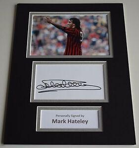 Mark-Hateley-Signed-Autograph-A4-photo-mount-display-AC-Milan-Football-AFTAL-COA