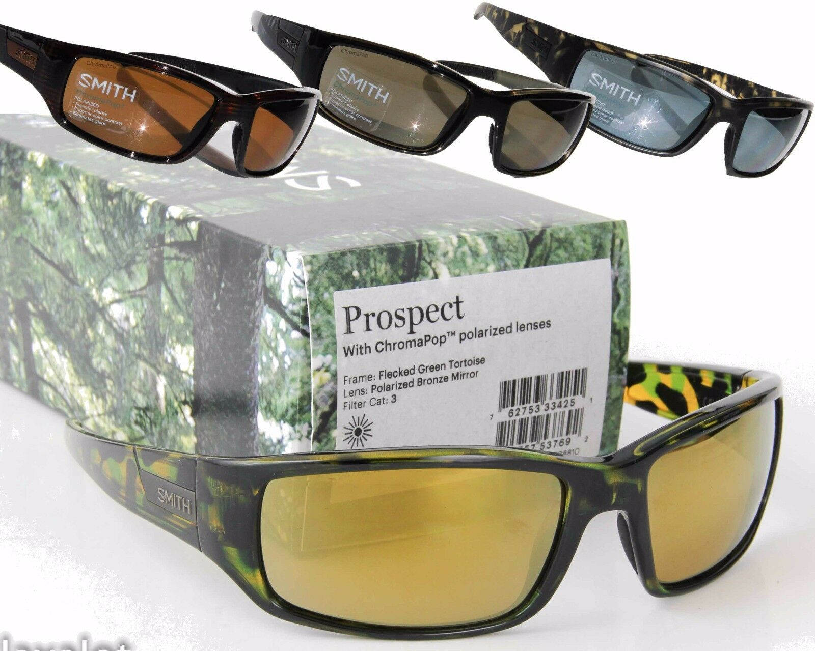 4da2eaafa34 Smith Optics Sunglasses Adult Lifestyle Prospect Polarized POCP Black Gray  Green for sale online