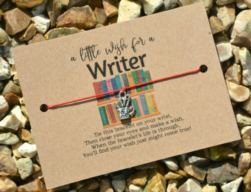 Wish Bracelet A Little Wish For A Writer Card Jewellery Gift