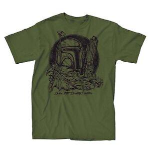 Star-Wars-Boba-Fett-Sketch-Green-Men-039-s-T-Shirt-New