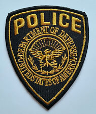 NOVELTY MILITARY SEW ON / IRON ON PATCH:- POLICE (a) BLACK & YELLOW SHIELD