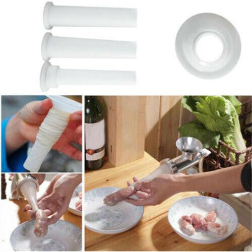 4PCS Sausage Maker Food Grade Stuffer Filling Tubes Funnels Nozzles Meat Filler