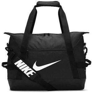 Apoyarse pestaña Maligno  Nike 2020 Academia Club Equipo Duffel Bolsa De Viaje Bolsa de deporte  fútbol americano deportes pequeña negro blanco | eBay