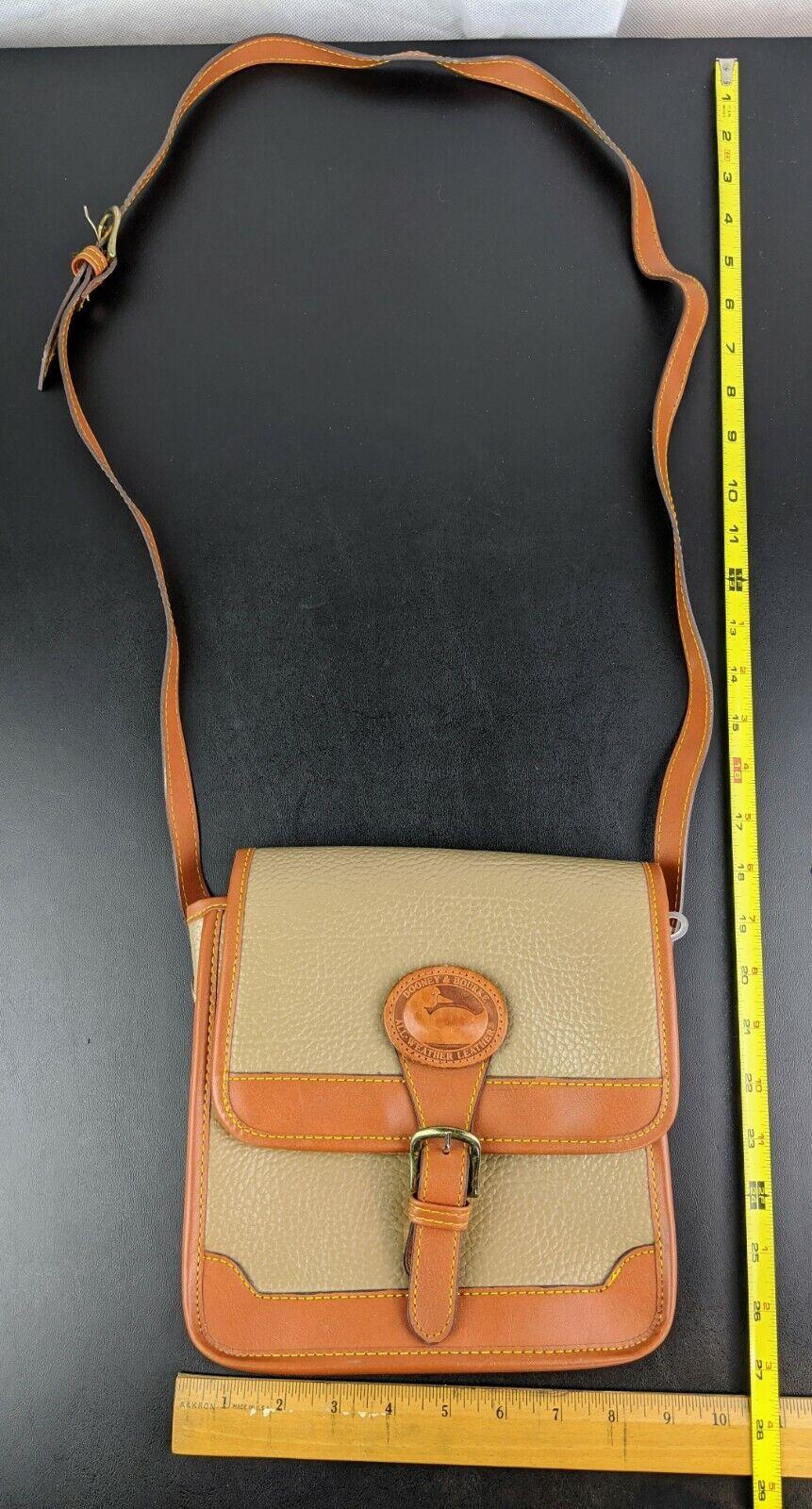 Dooney & Bourke Tan Brown Small Purse Handbag Tra… - image 12
