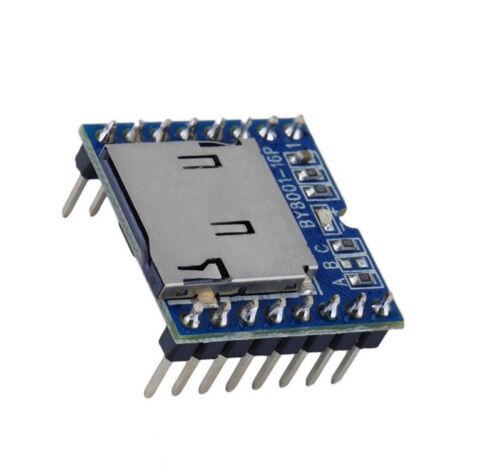 1PCS Micro SD TF U-disk BY8001-16P reproductor de MP3 Arduino Módulo de voz Audio Placa K