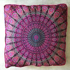 Large Size Mandala Floor Cushion Throw Square Pillow Cover,Pet Bed Cover Decor
