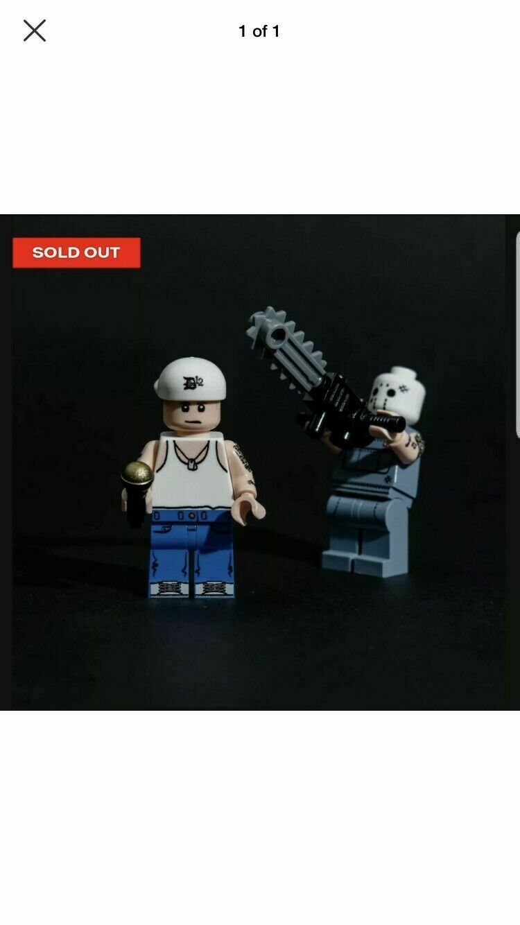 Eminem LEGO SSLP20 Mini Figure Bundle D12 Slim Shady LP Minifig RARE IN HAND