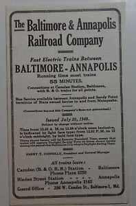 Calendario 1949.Detalles Acerca De Baltimore Annapolis Ferrocarril Calendario 1949 7 20 49 Mostrar Titulo Original