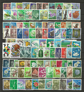 JAPAN-STAMP-COLLECTION-PACKET-of-100-DIFFERENT-Mostly-Used-NICE-SELECTION