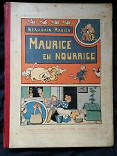 Benjamin Rabier Maurice en nourrice EO 1905 Très rare collection enfantina