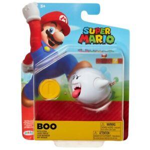 Super Mario 10.2cm Maßstab Figur - Boo Mit Münze Brandneu