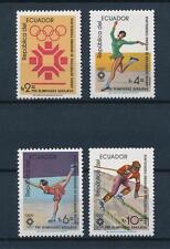 [55482] Ecuador 1984 Olympic games Sarajevo Figure skating Skiing MNH