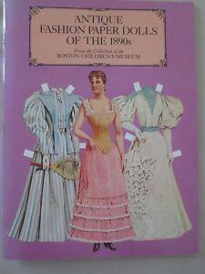 Antique Fashion Paper Dolls of the 1890s, Boston Children's Museum, 1984 UNCUT!