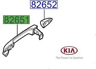 Genuine KIA SPORTAGE 2016-2017 Poignée de porte extérieur avant et arrière LH 82651F1000