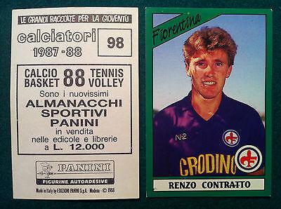 NUOVA//NEW N.99 CAROBBI FIORENTINA FIGURINA CALCIATORI PANINI 1987//88