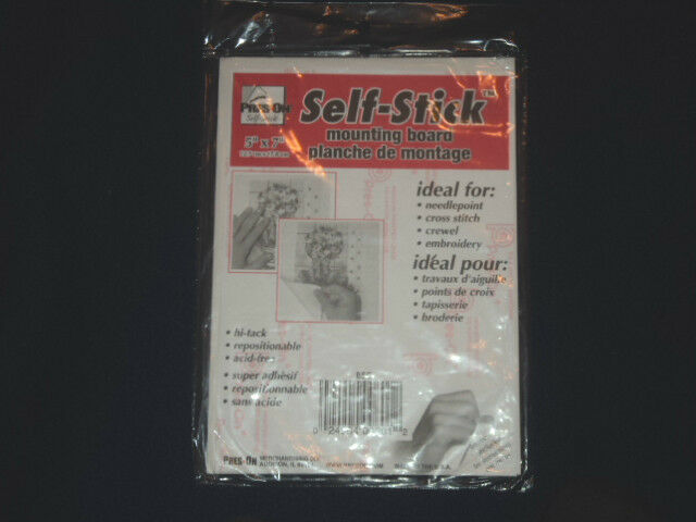 """Pres-On Self Stick Mounting Board 5/"""" X 7/"""" For Needlepoint Cross Stitch etc."""