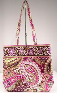 Vera-Bradley-Very-Berry-Paisley-Large-Shopper-Tote-Bag-Purse-Retired-Pre-Owned