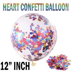 Lot-de-10-confettis-ballons-latex-12-034-MIX-COEUR-Anniversaire-Enterrement-Vie-Jeune-Fille-Mariage