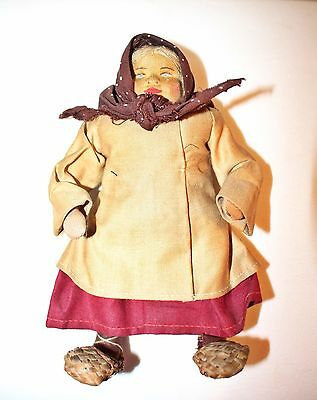 Antique Russian Stockinette Doll Belorusska Peasant Girl Soviet Union USSR