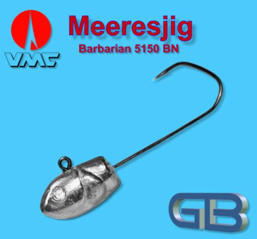 Meeresjig Dorschbombe 25g Jig Bleikopf VMC Barbarian 5150 BN 5//0.