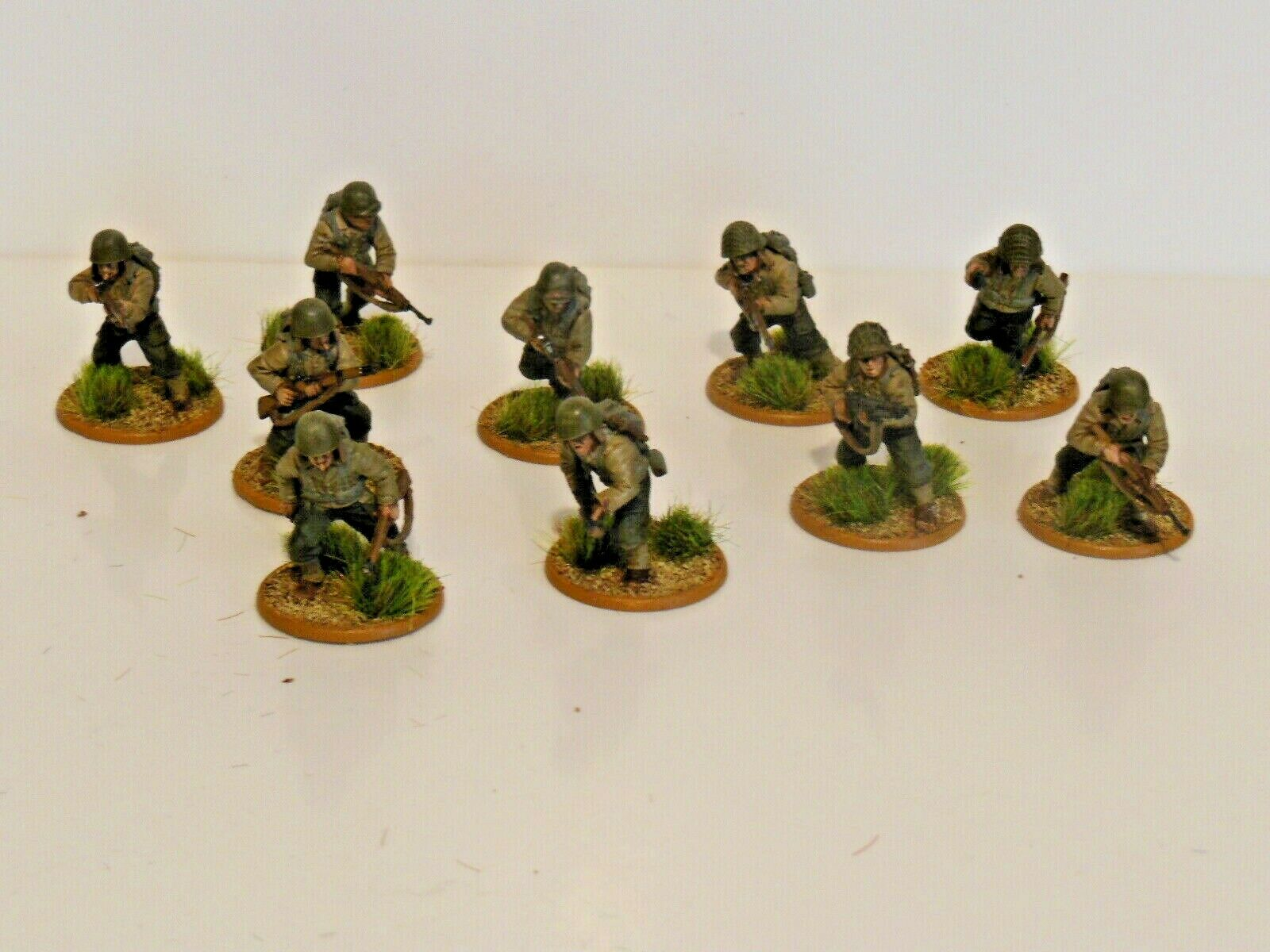 28mm Bolt Action Chain Of Command US Infantry 10 Figures  N2