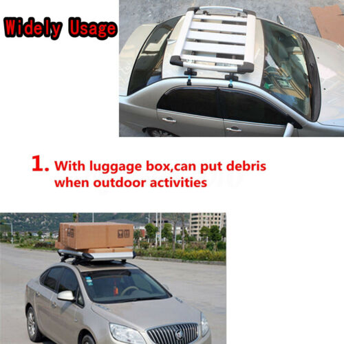 """Universal 48/"""" Car Top Roof Cross Bar Luggage Cargo Carrier Rack w// 3 Kinds Clamp"""