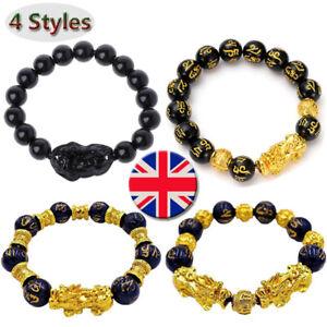 Luck-Jewelry-Feng-Shui-Black-Obsidian-Pi-Xiu-Wealth-Bracelet-Attract-Wealth-amp-Good