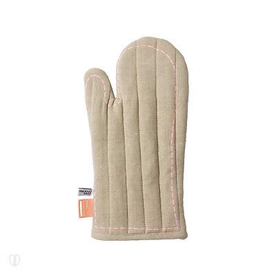 Topfhandschuh Baumwolle  / mint, braun / Topflappen, Topf, Ofen, Handschuhe