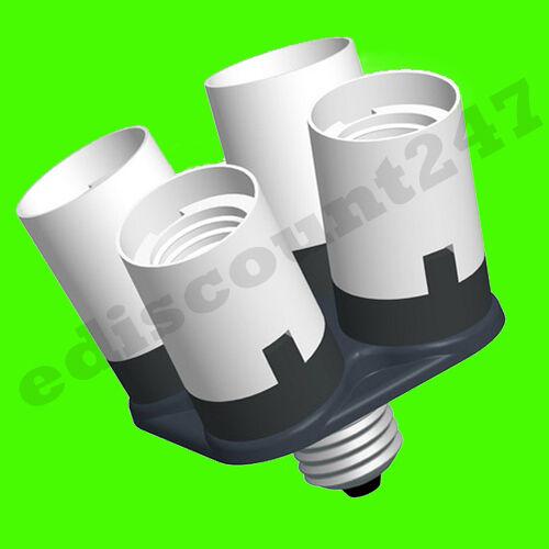 15+ TYPES SPLITTER E40 ES E27 E14 BC B22 Holder Adaptor LED Converter UK SELLER.