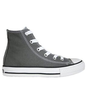 55f0316fe96b Converse Chuck Taylor All Star Hi Charcoal Canvas Kids Shoes 3J793 ...