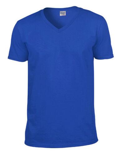 Gildan Softstyle® V-Neck T-Shirt kurzarm S C XXL Männer Ausschnitt G64V00