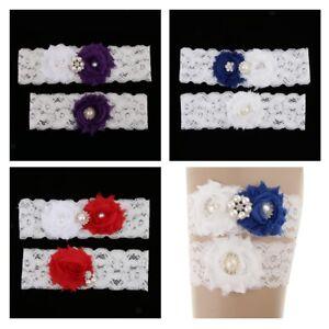 2pcs-Wedding-Garter-Set-Bridal-Pearls-Crystal-Flower-Keepsake-Toss-Lace-Garter