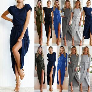 Summer-Wrap-Dress-UK-Womens-Short-Sleeve-Boho-Midi-Dress-Ladies-Long-Beach-Party