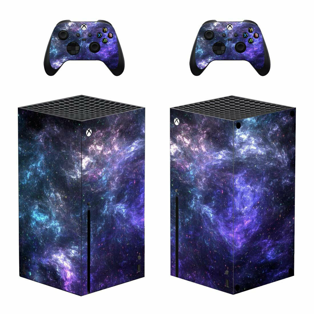Milky Way Vinyl Skin Decal Sticker Cover Xbox Series X Console & 2 Controllers