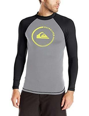 TYR  Men/'s XXL Long Sleeve Rash Guard Swim UV Shirt Black White Durafast Lite